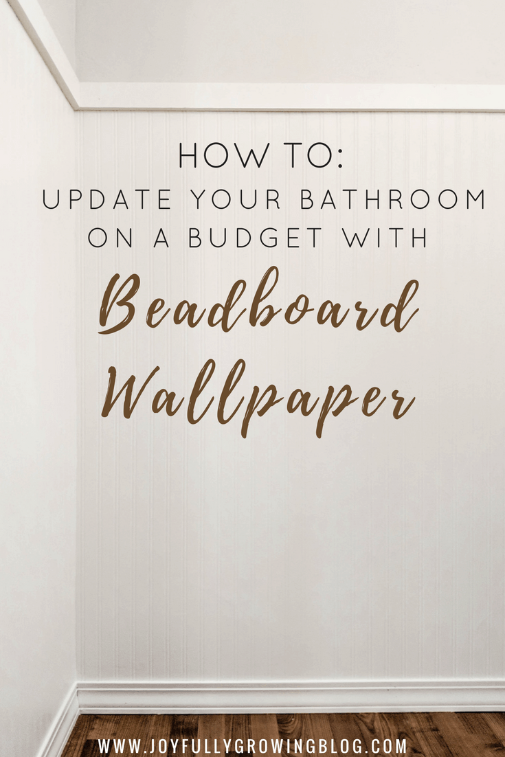 How to Install Beadboard Wallpaper In A Bathroom 735x1102