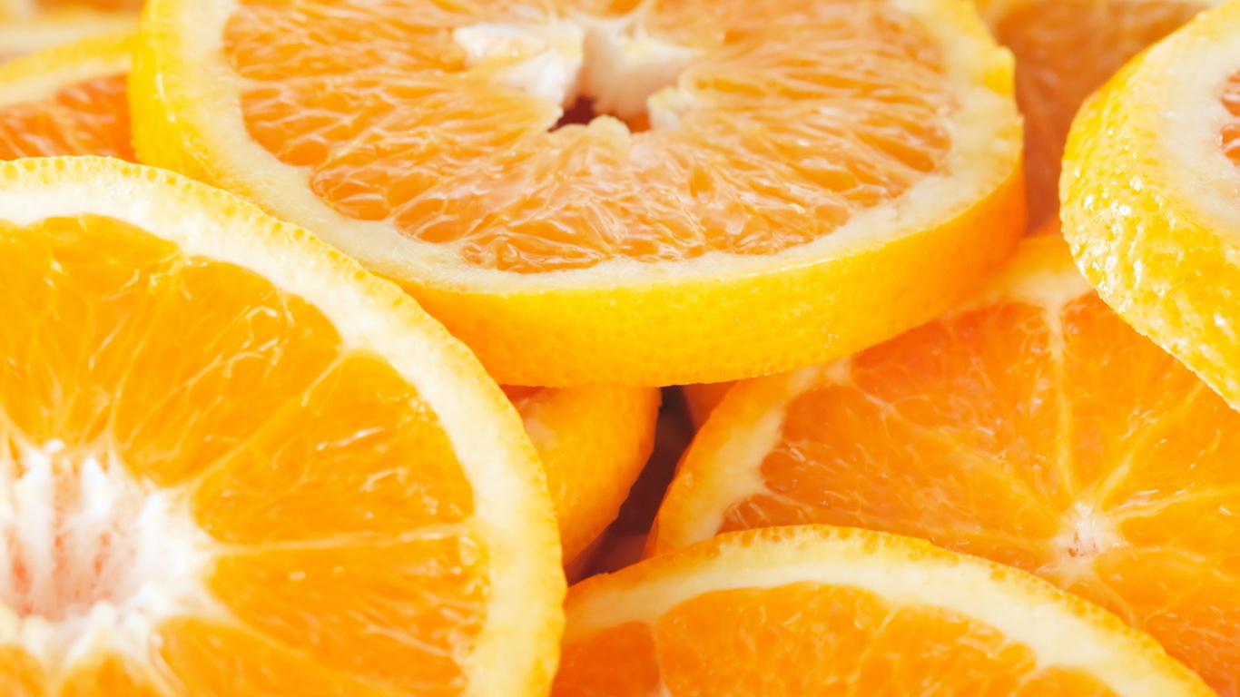 Orange Fruit HD Wallpaper Background Images 1366x768