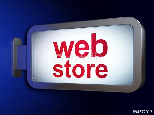 Web design concept Web Store on billboard background Stock photo 500x375