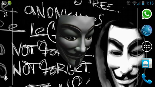Anonymous Vendetta Mask 3D App for Android 512x288