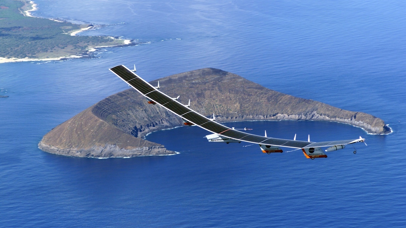 wallpapers Nasa pathfinder unmanned aircraft solar panels island 1366x768