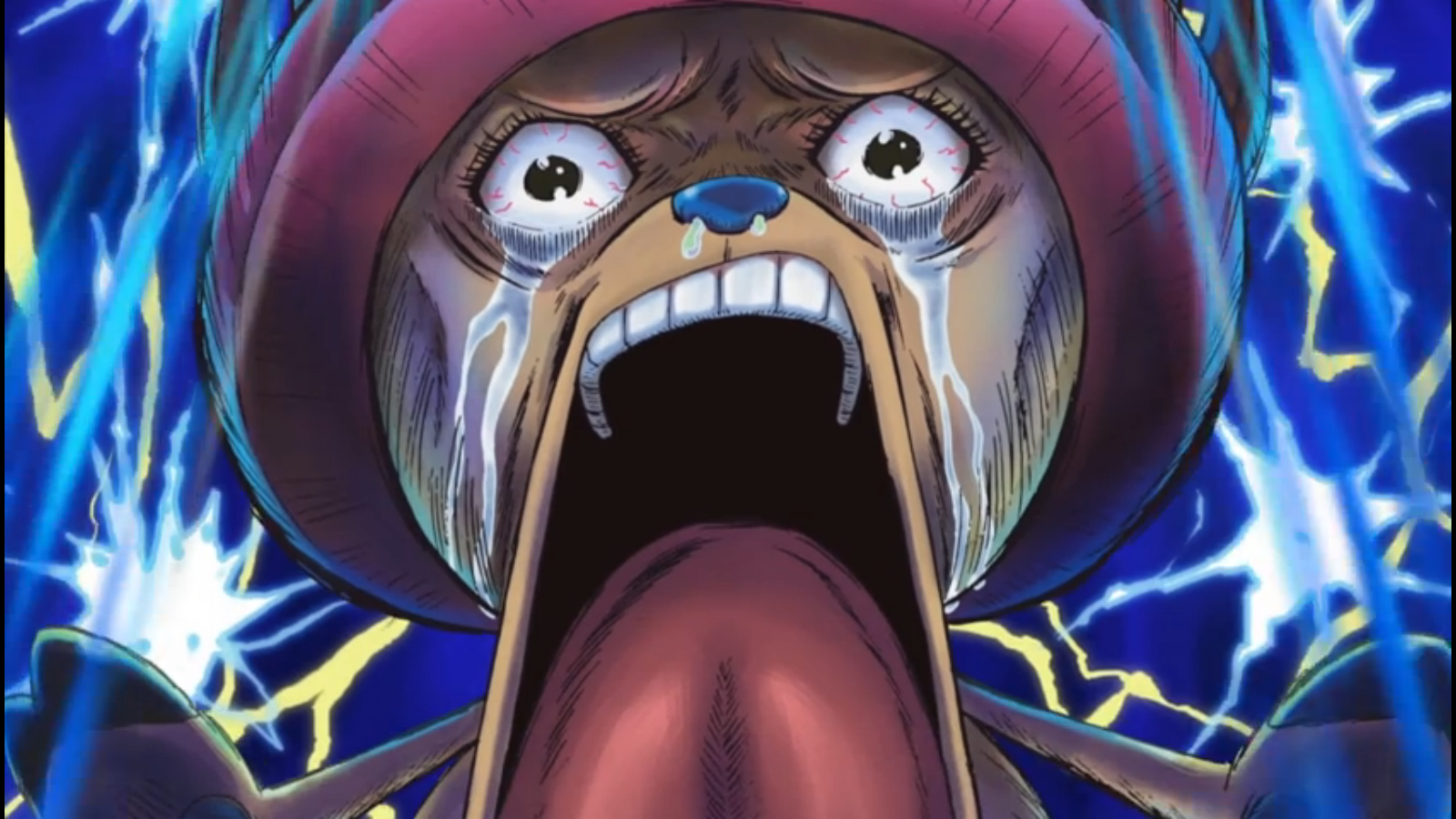 chopper shocked one piece op is op One piece Art Wallpaper 1600x900