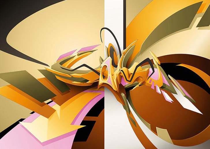 wallpapers creator artist daim home 3d graffiti wallpapers creator 728x515
