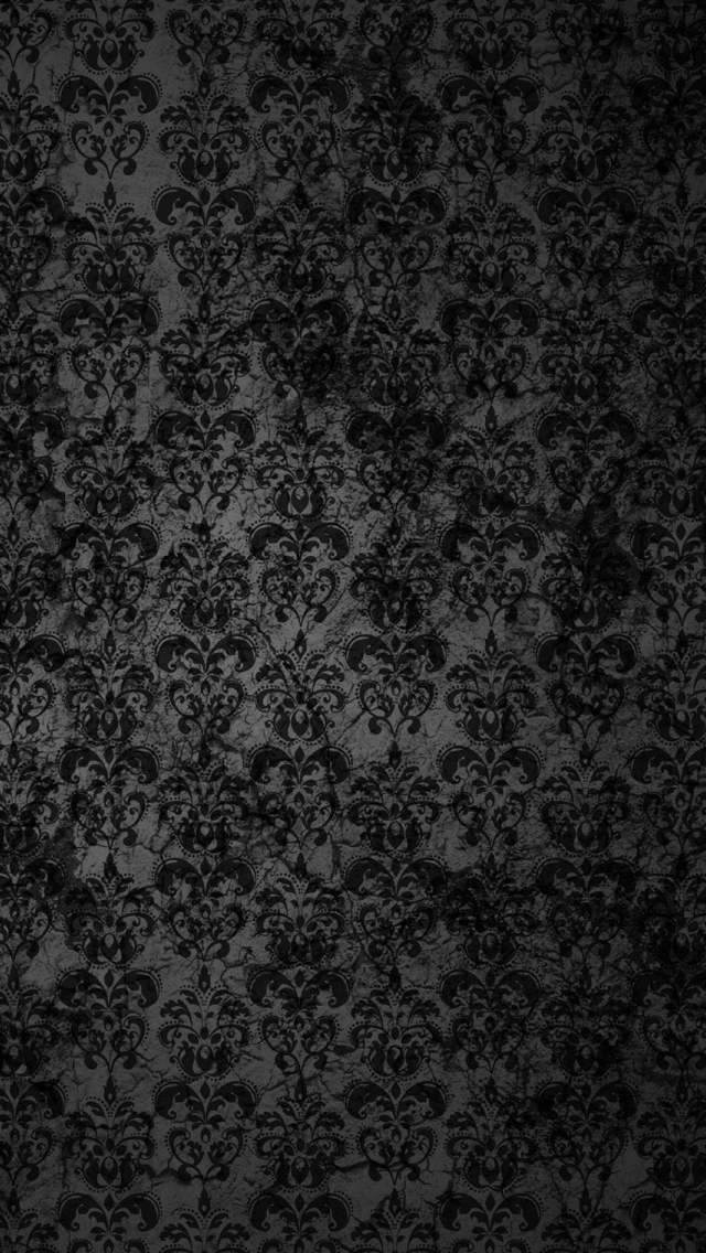 Black Floral Grunge iPhone 5s Wallpaper Download iPhone Wallpapers 640x1136
