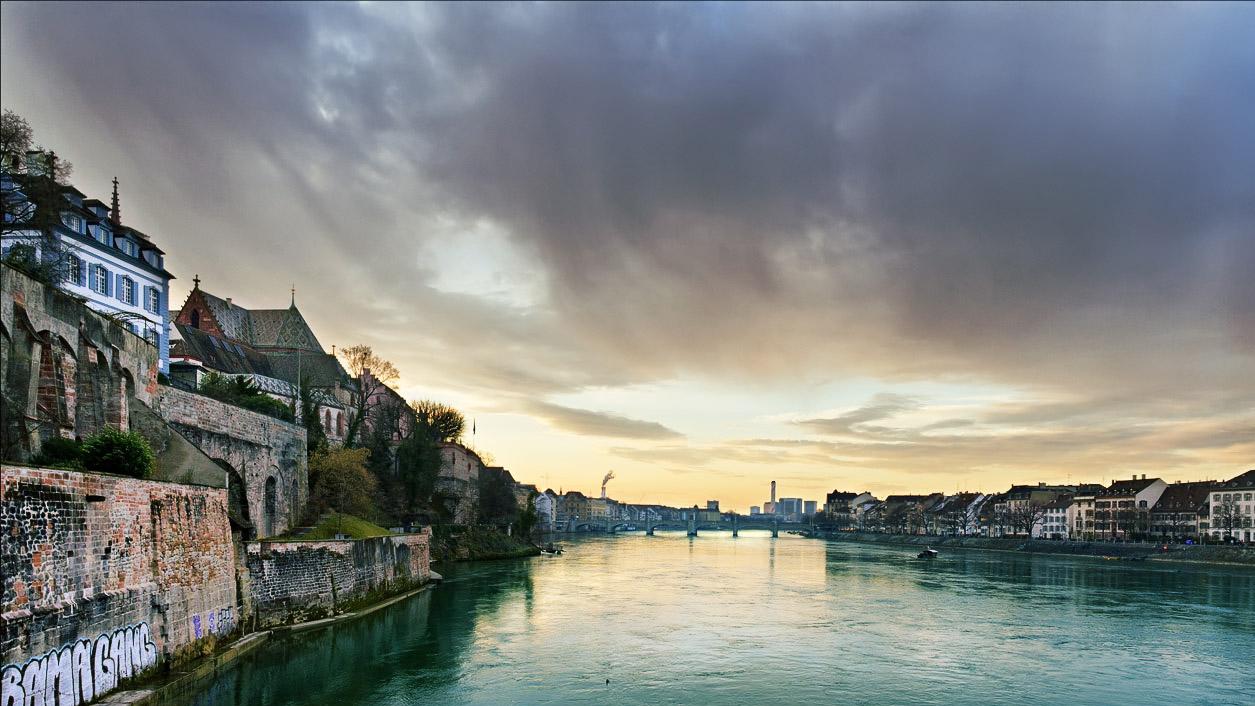 Basel Switzerland Rhine River 1255x706