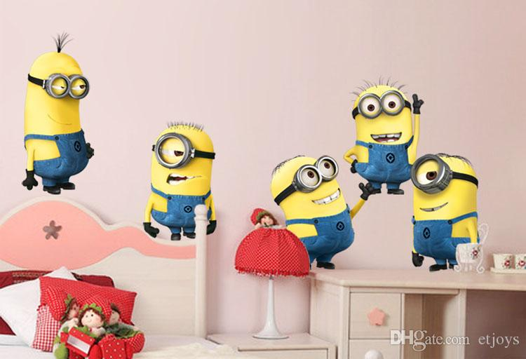 Wallpaper Room Sticker Movable Despicable Me Wall Decor Christmas Room 750x512