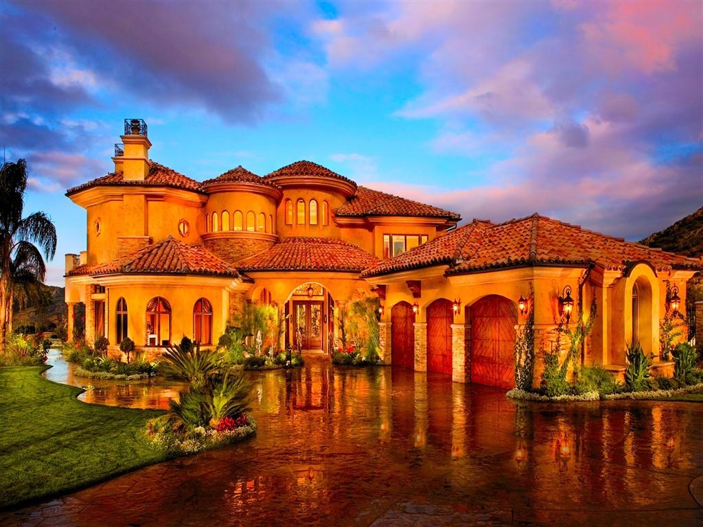 Beautiful houses wallpapers desktops wallpapersafari for Beautiful home pictures hd