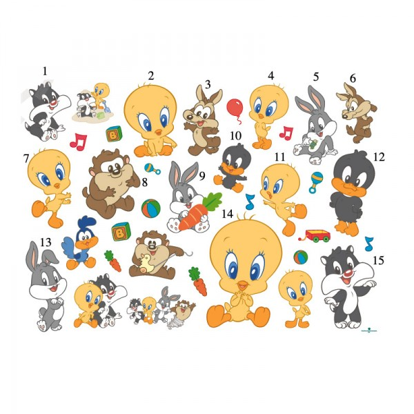 Adesivi per Camerette Baby Looney Tunes A   Pearhead adesivi per 600x600