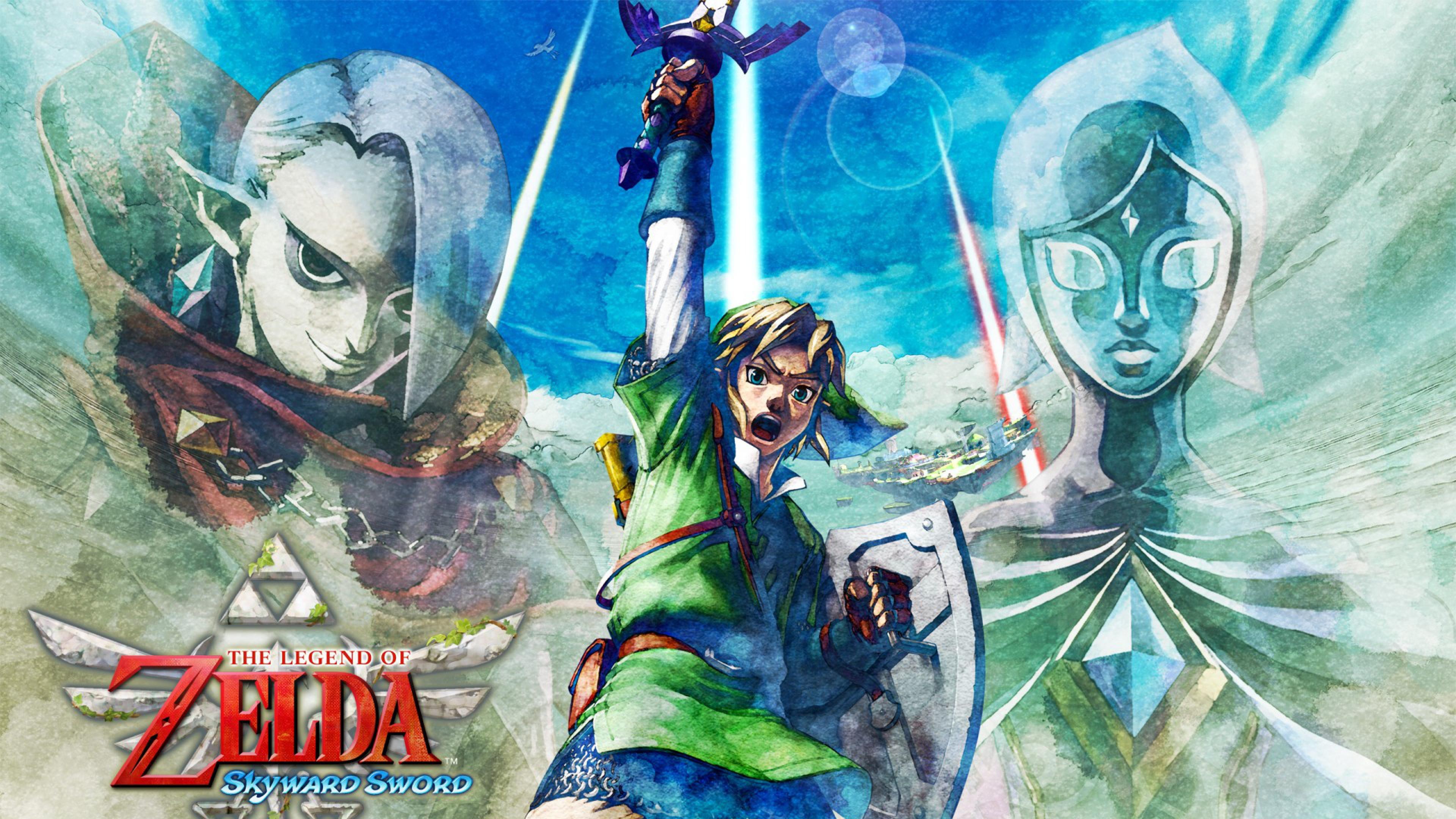 zelda skyward sword Nintendo ead Legend of zelda Ocarina of time 4K 3840x2160