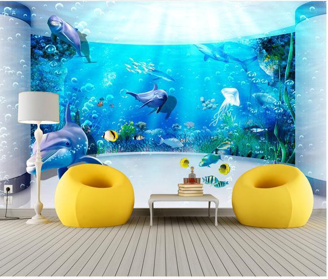 wallpaper Custom wallpaper 3D fantasy underwater world mural wall 652x554