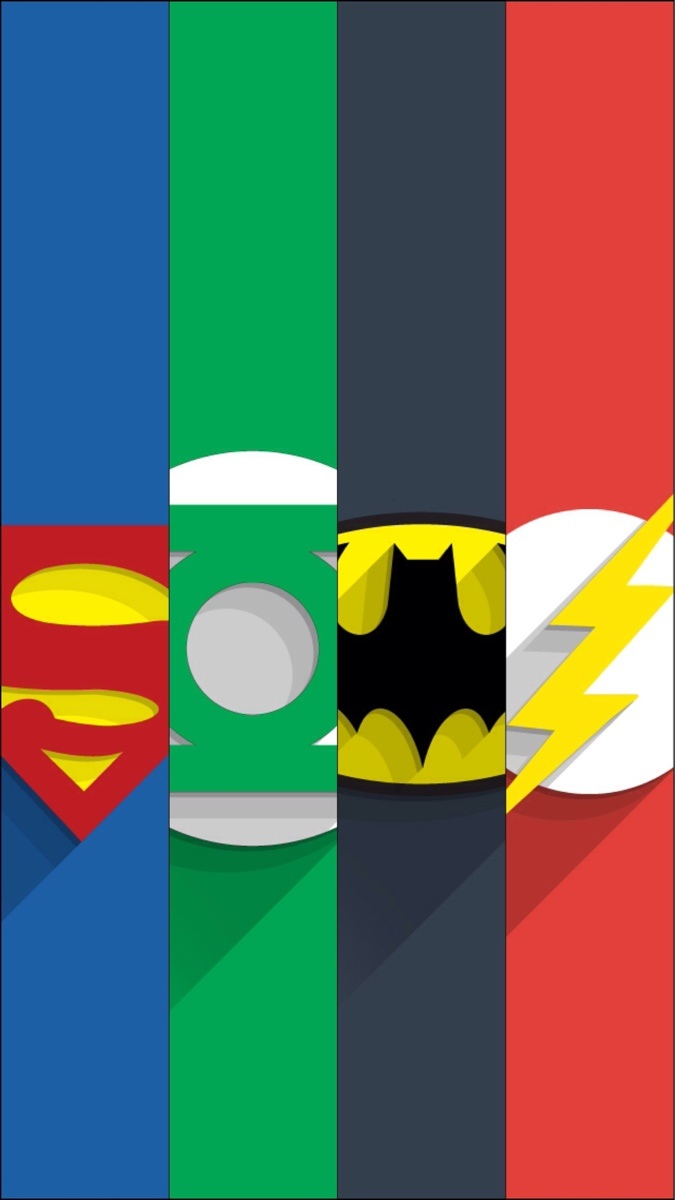 Superhero Logos Iphone Wallpaper Dc superhero wallpapers 675x1200