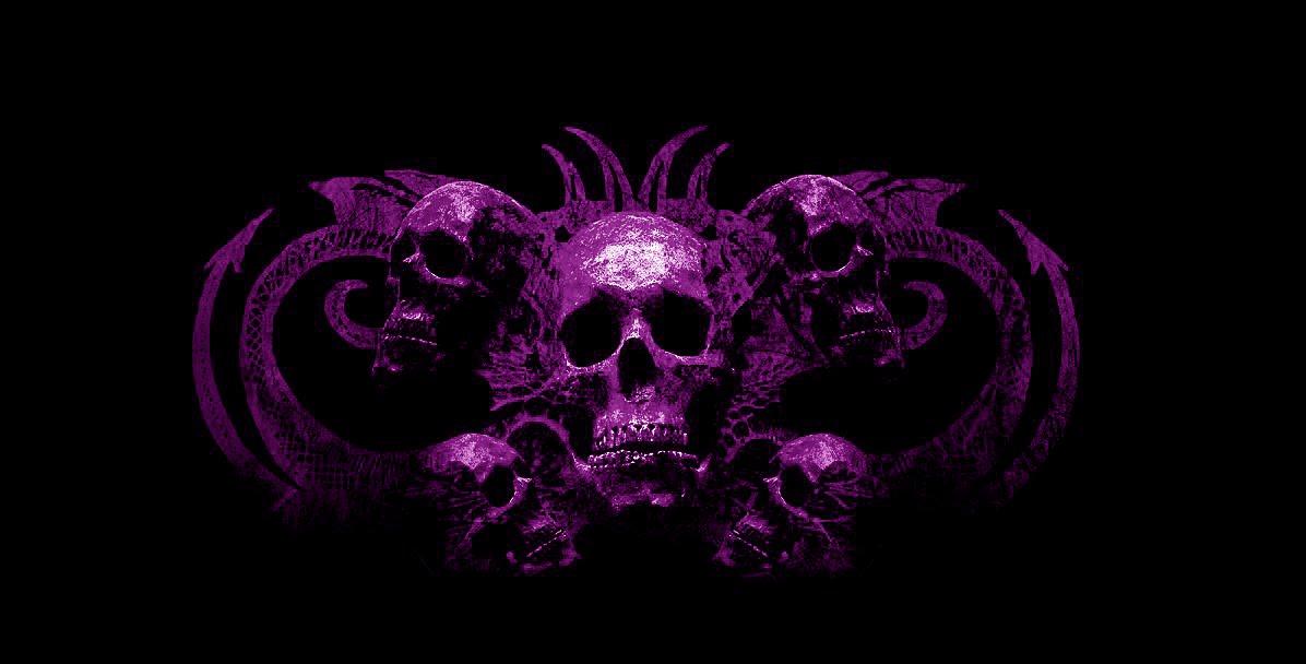purple skull wallpaper on wallpapersafari