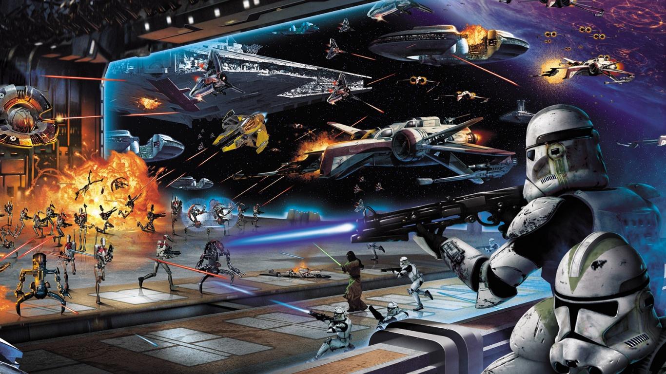 50 Star Wars Battlefront Wallpaper 1366x768 On Wallpapersafari