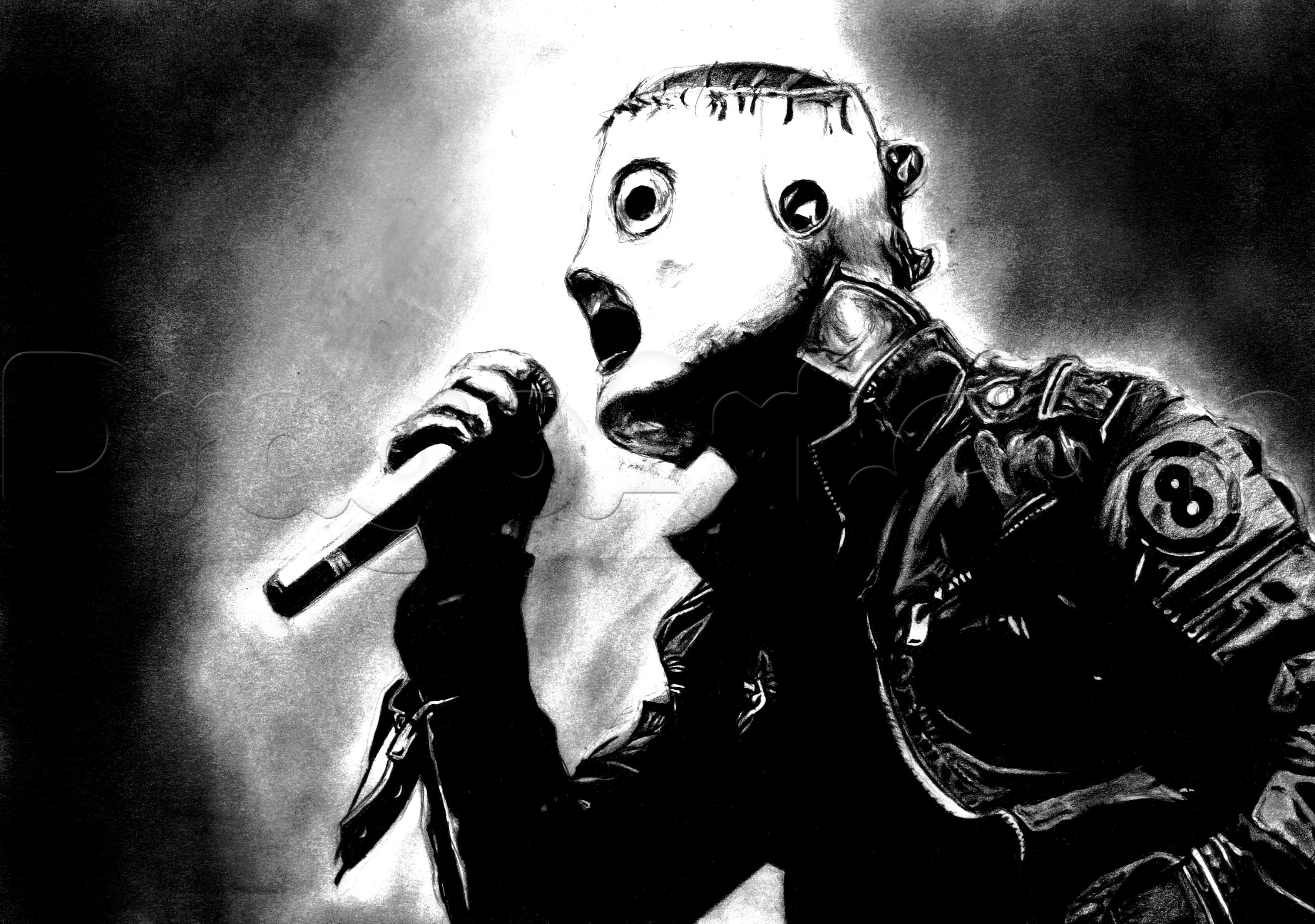 How to Draw Corey Taylor Slipknot Step by Step Stars 3416x2401