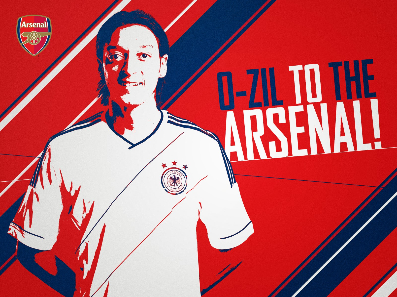 Mesut Ozil Arsenal 2014 The Gunner HD Desktop Wallpaper 1600x1200