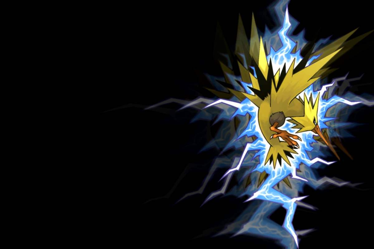 Download the Pokemon anime wallpaper titled Zapdos 4 1200x800