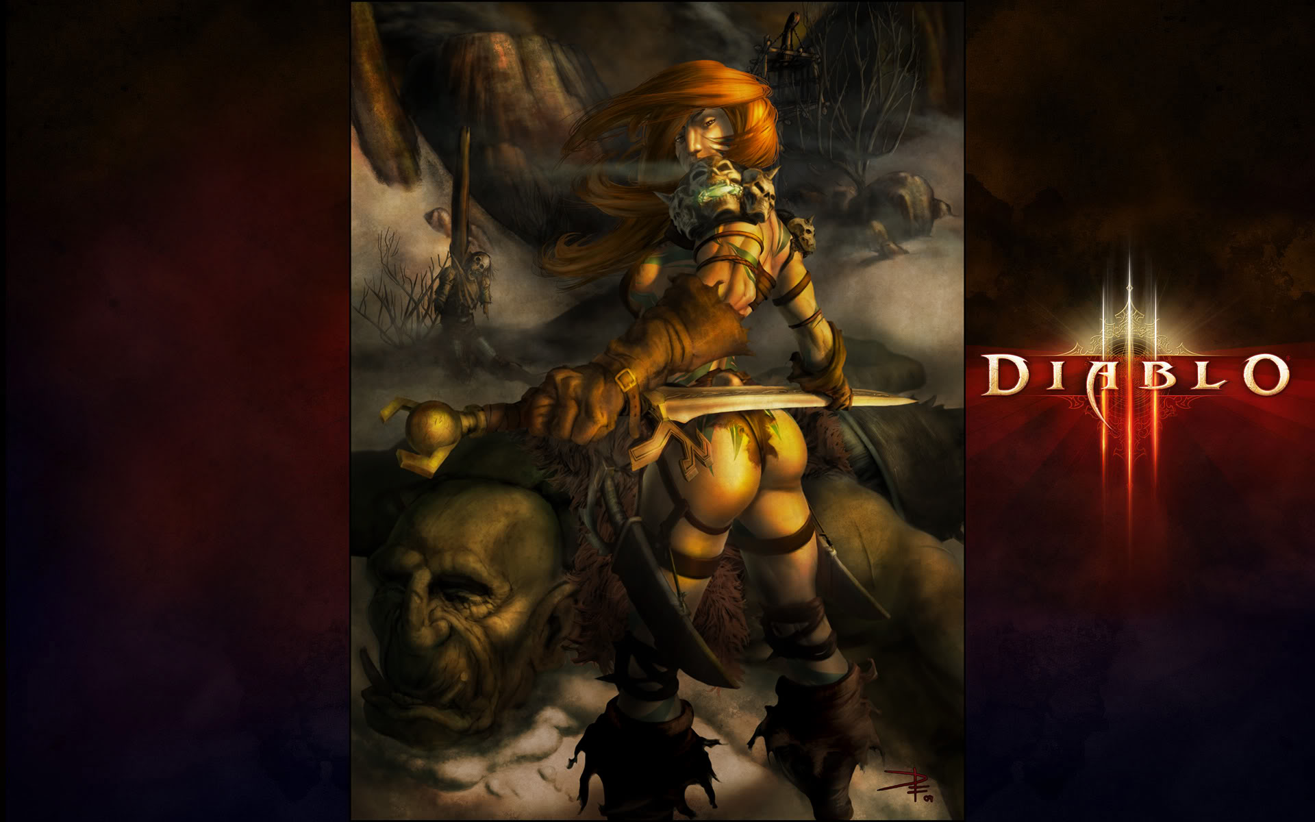 Diablo 3 Barbarian Wallpapers   Wallpaper Zone 1920x1200