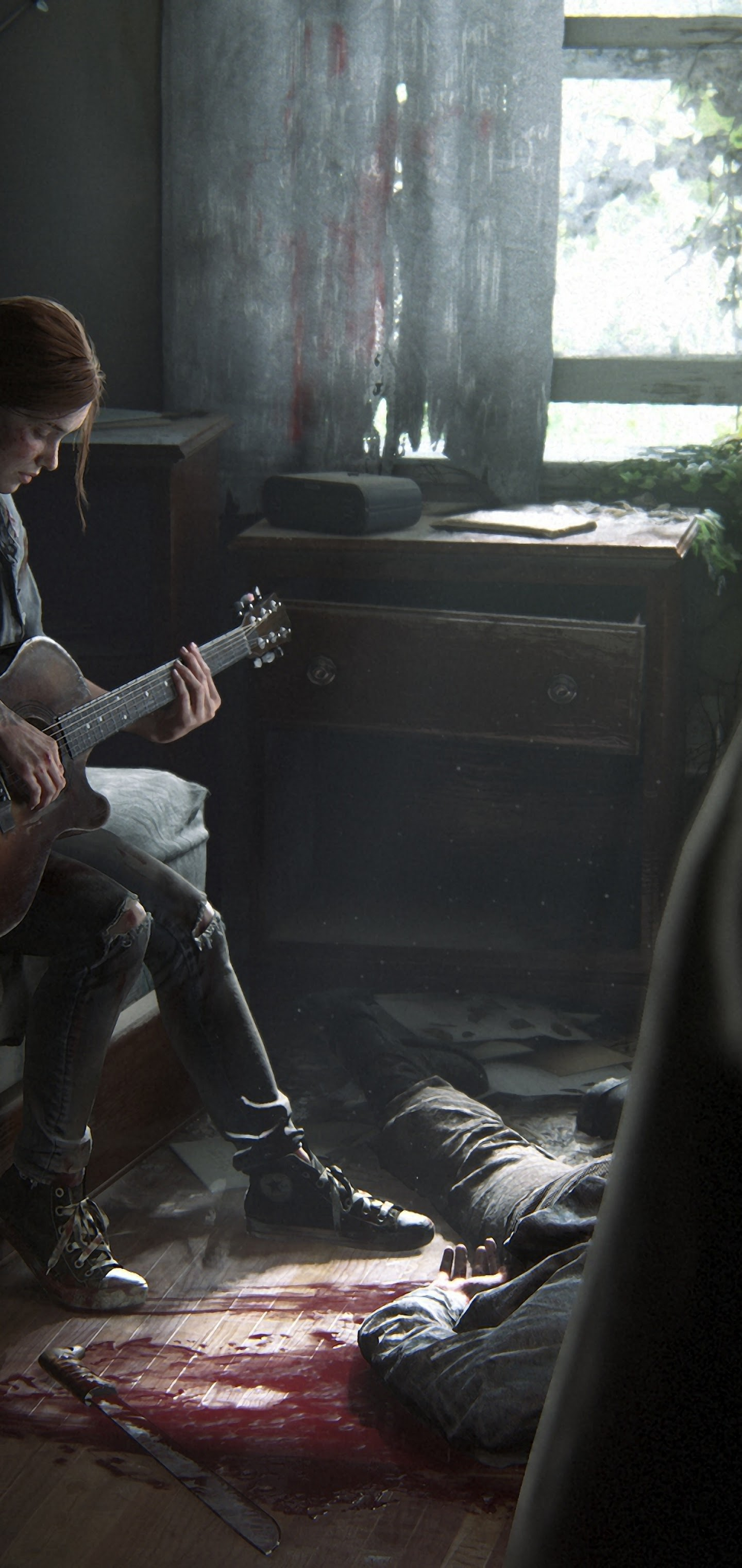 The Last of Us Part 2 Ellie Playing Guitar 4K Wallpaper 7 1440x3040
