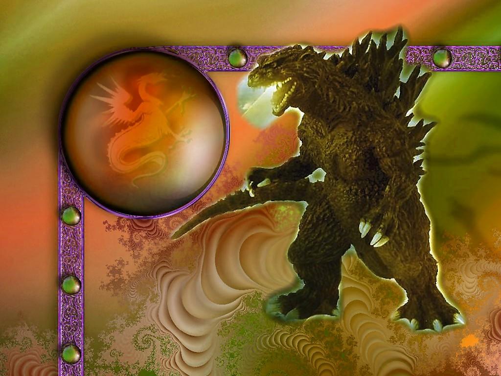 Computer wallpaper for wallpaper downloads Godzilla 1024x768