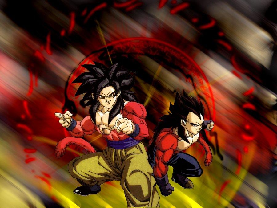 Goku and Vegeta ssj4 by atheus93 900x675