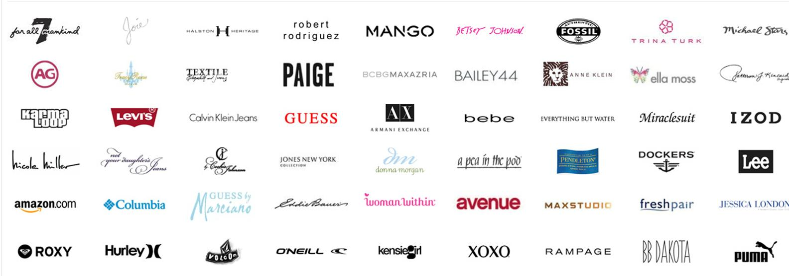 Clothing Brand Logos and 1584x556