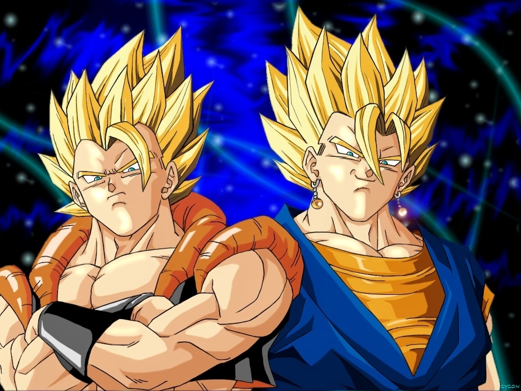 and Super Vegito wallpaper 2   Dragonball Z Movie Characters Wallpaper 1024x768