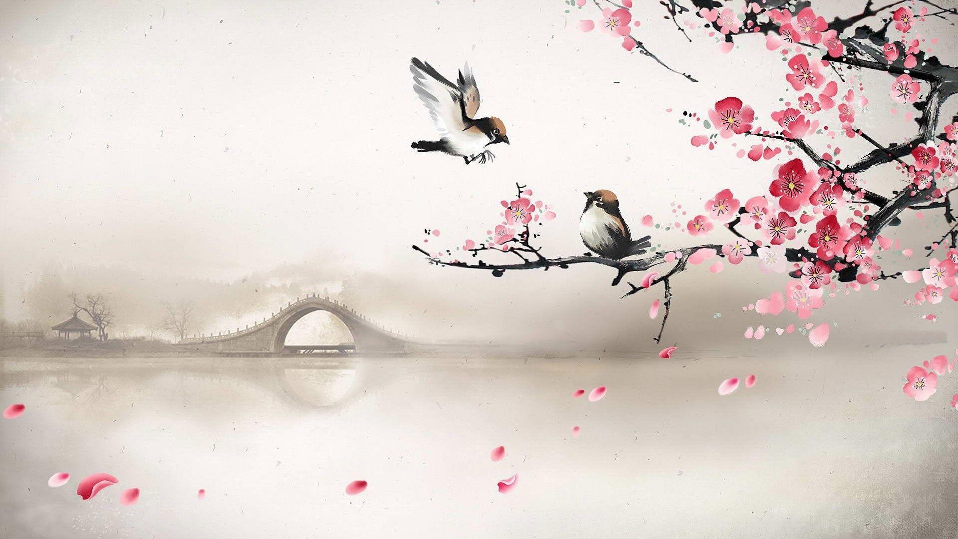Asian Bird Art Wallpapers   Top Asian Bird Art Backgrounds 1920x1080