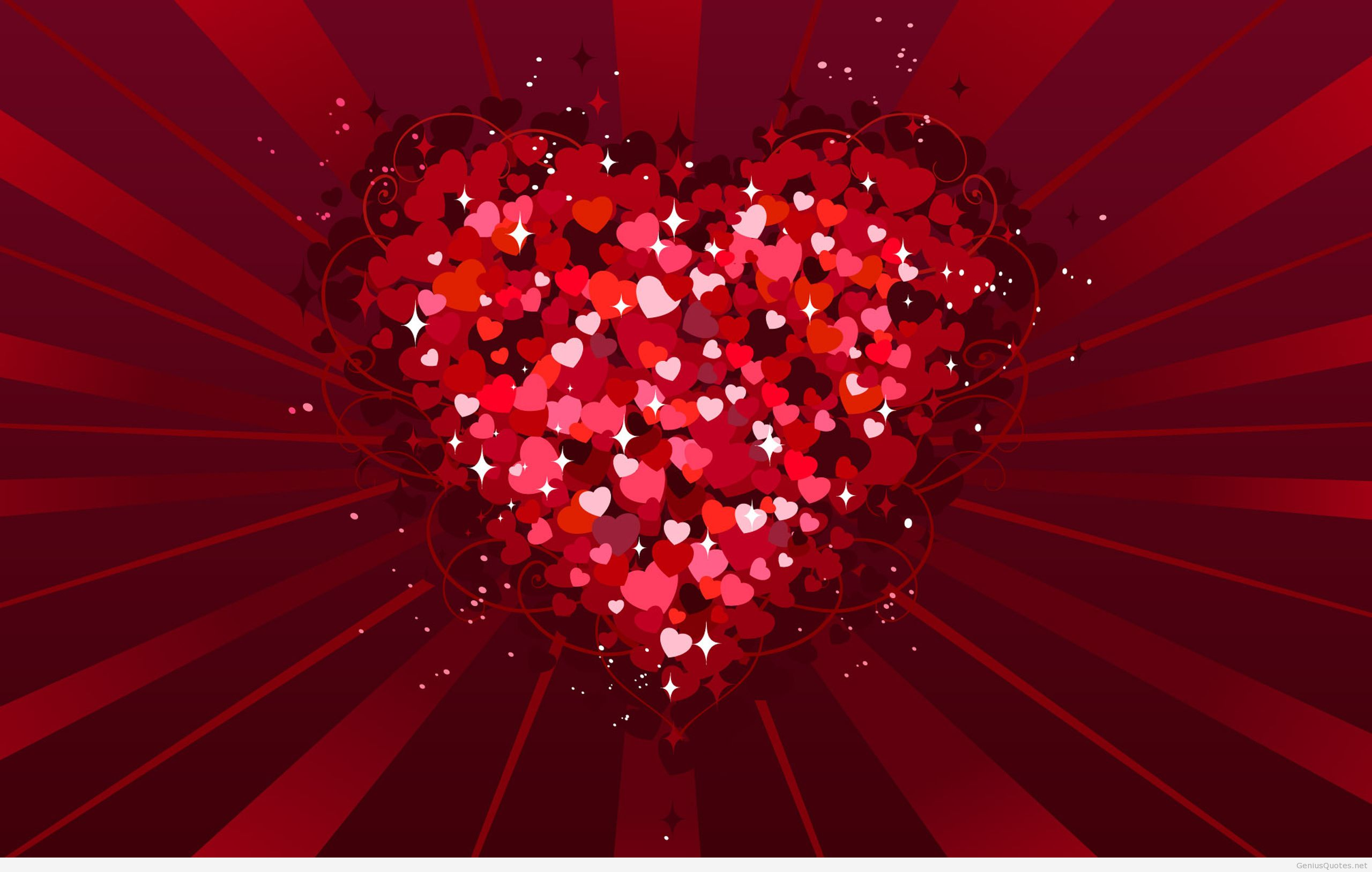 This sparkly Valentines Day wallpaper is sure to put you and your 2560x1627
