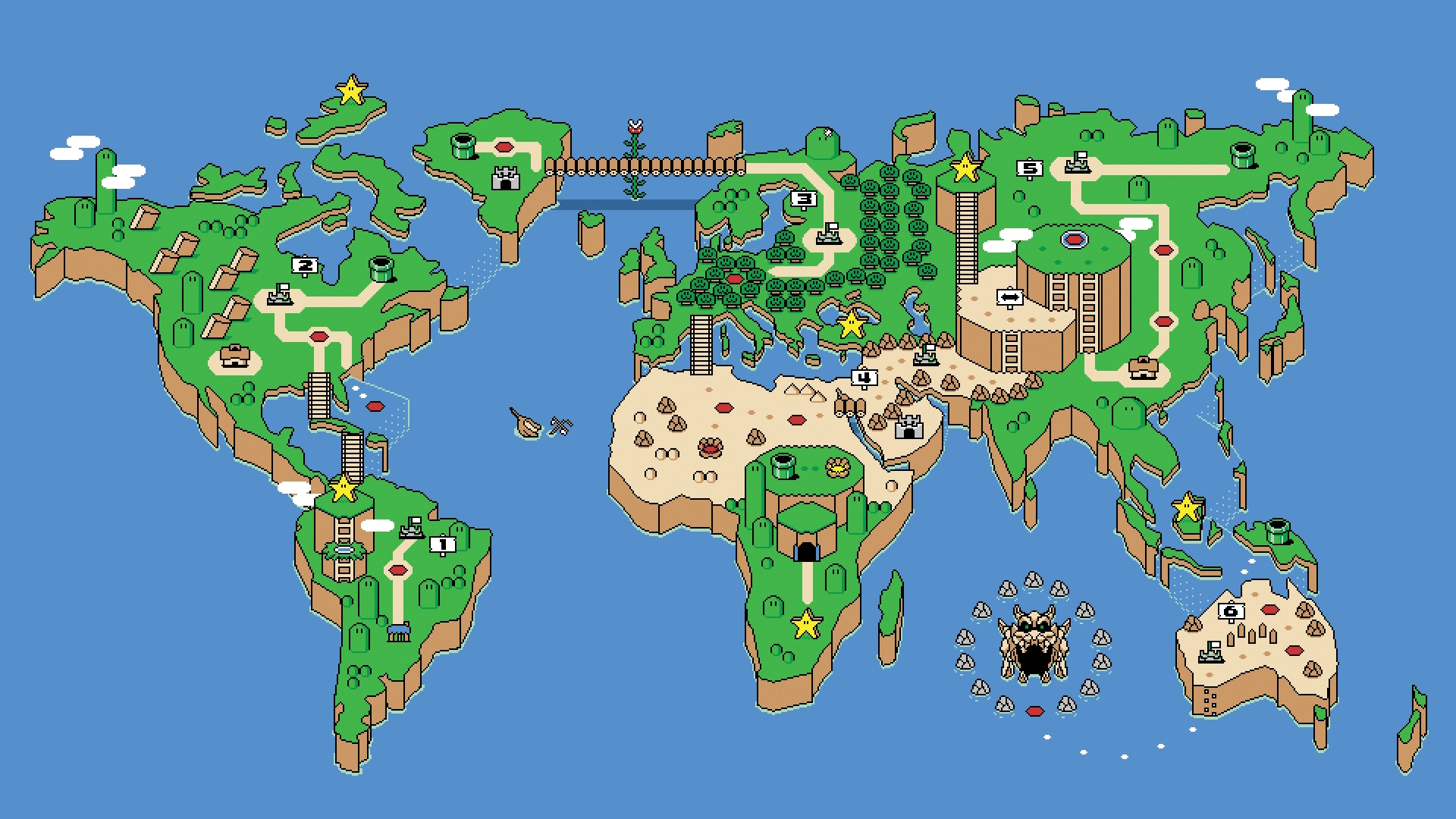 super mario world map wallpaper 4703 4950 hd wallpapersjpg 1920x1080