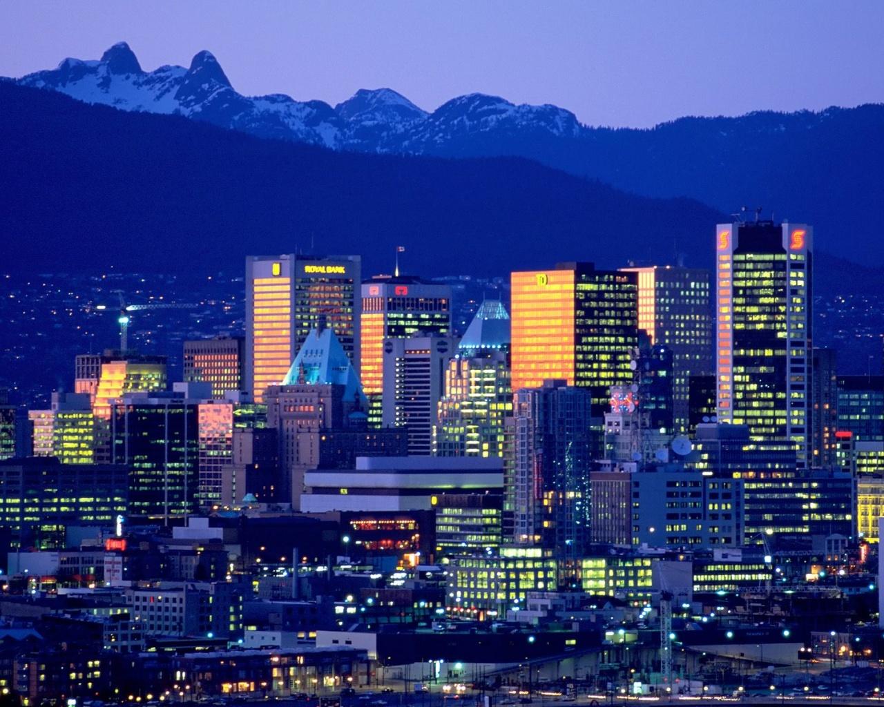 1280x1024 Vancouver Skyline desktop PC and Mac wallpaper 1280x1024