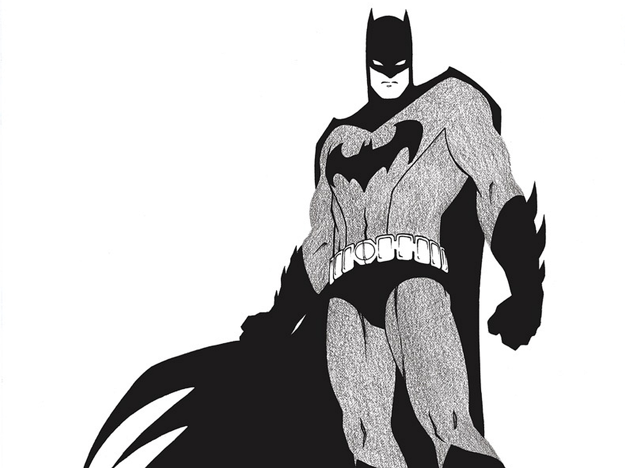 Batman black and white hd wallpapers backgrounds wallpaper 1280x959