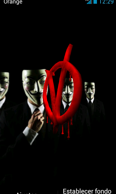 Anonymous 3D Live Wallpaper   Apps Android Store Aptoide   Android 384x640