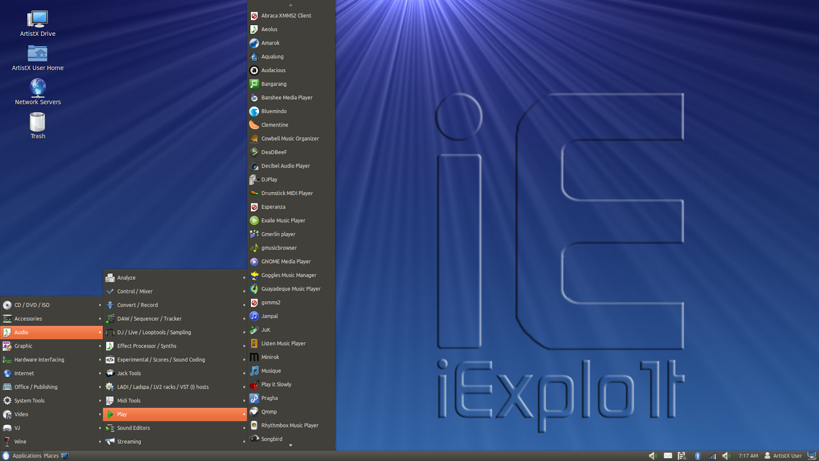 ArtistX The Linux Distro for Artists iExplo1t 1600x900