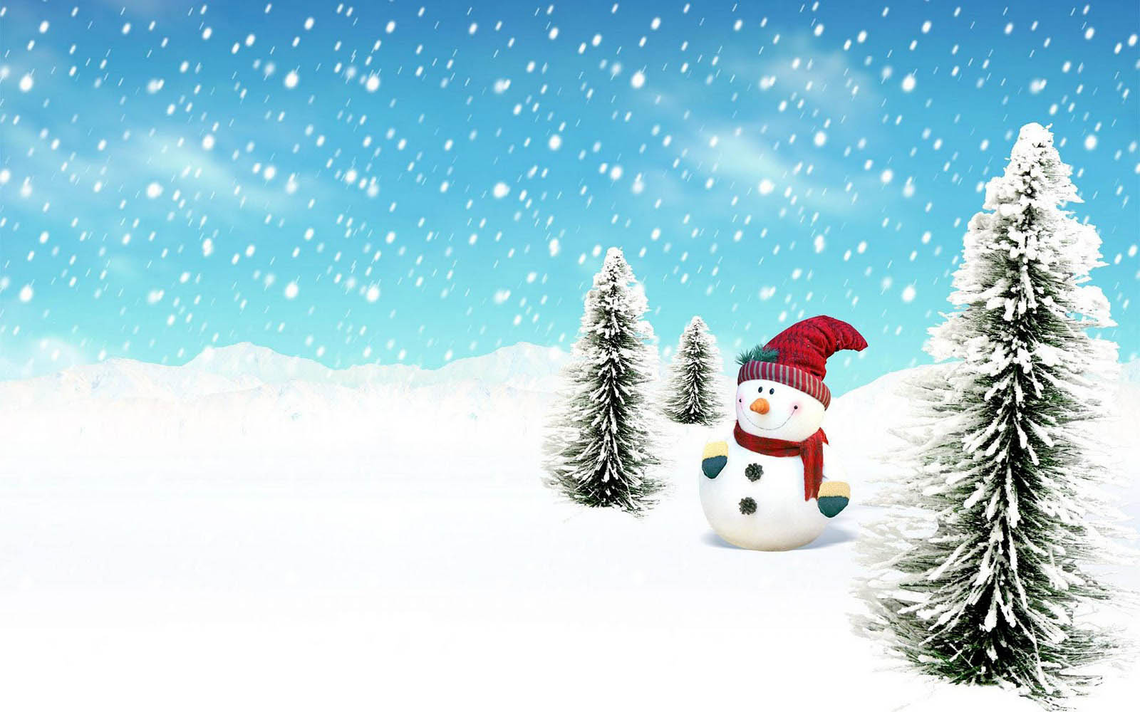 wallpapers snowman backgrounds 1600x1000