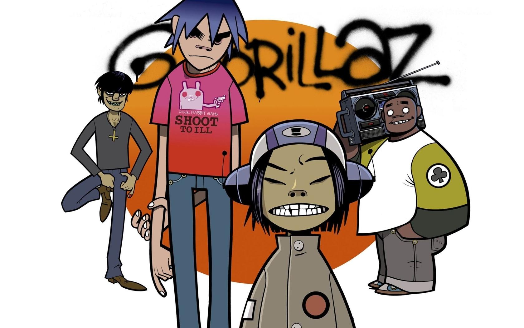 gorillaz wallpaper group music graffiti HD Desktop Wallpapers 1680x1050