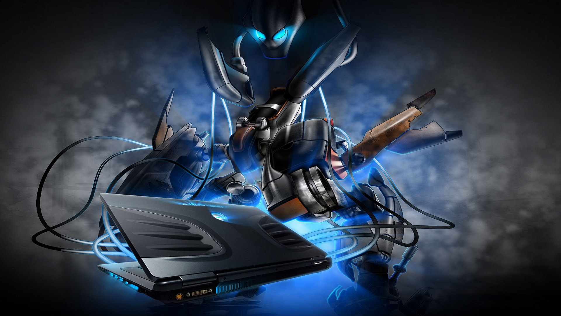 3d alienware mech hd wallpaper wallpapers55com   Best Wallpapers 1920x1080
