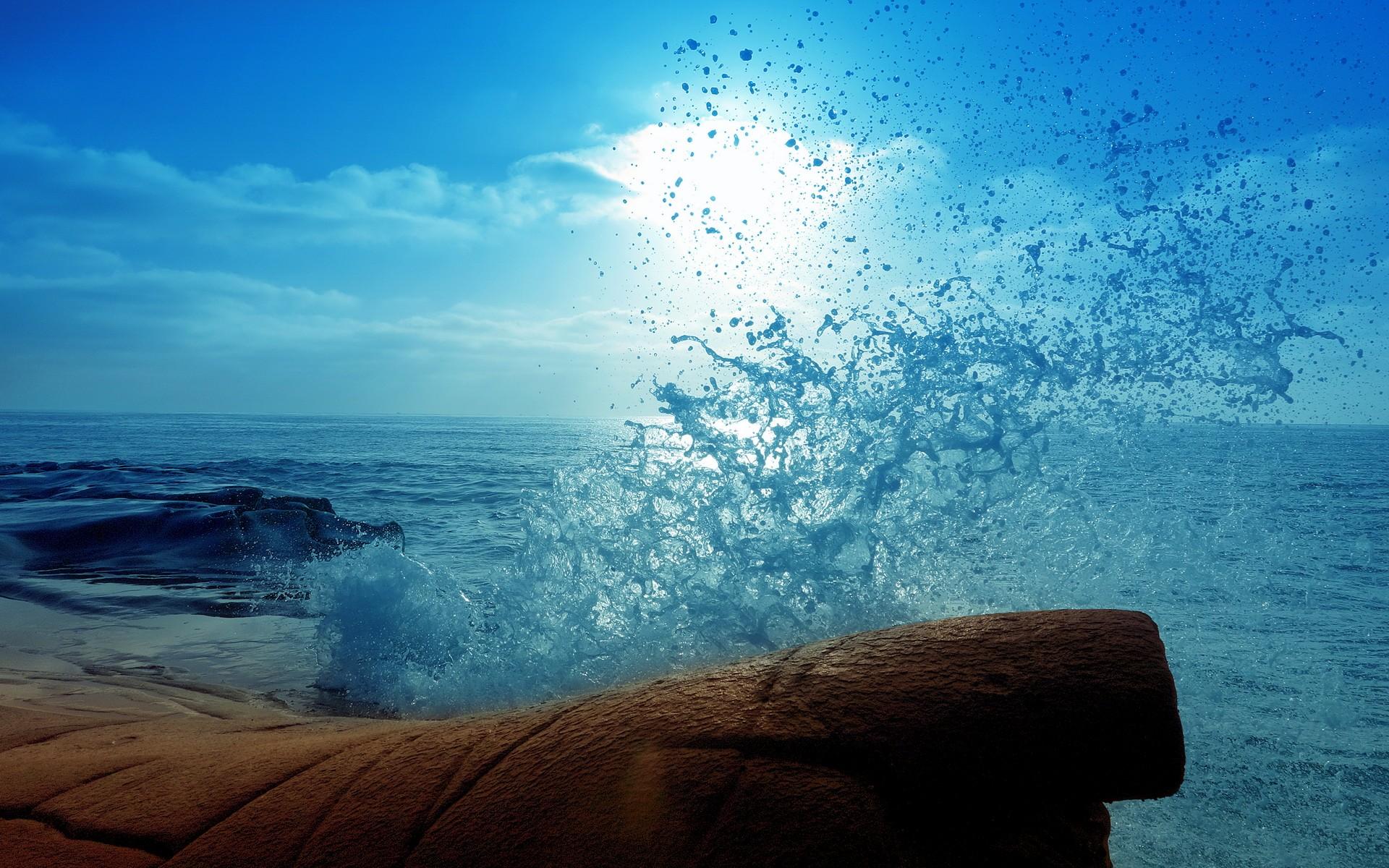 Splash Ocean Water Drops Blue waves wallpaper 1920x1200 1920x1200
