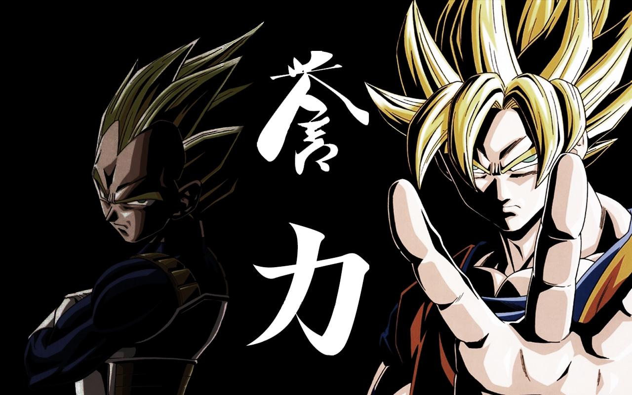 Goku and Vegeta Wallpaper by mangledmessjpg 1280x800