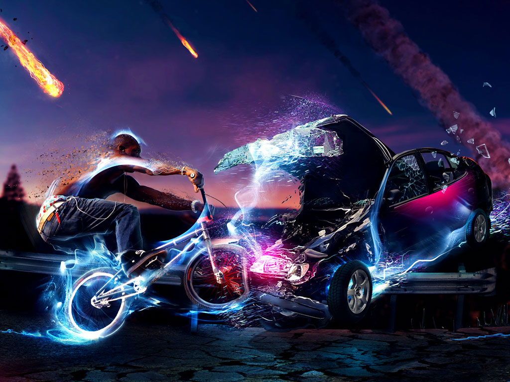BMX HD wallpaper background 3D wallpapers Acer Iconia Tab A100 1024x768