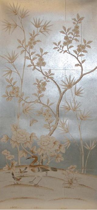 wallpaper silk wallpaper chinese wallpaper hand painted silk 319x692