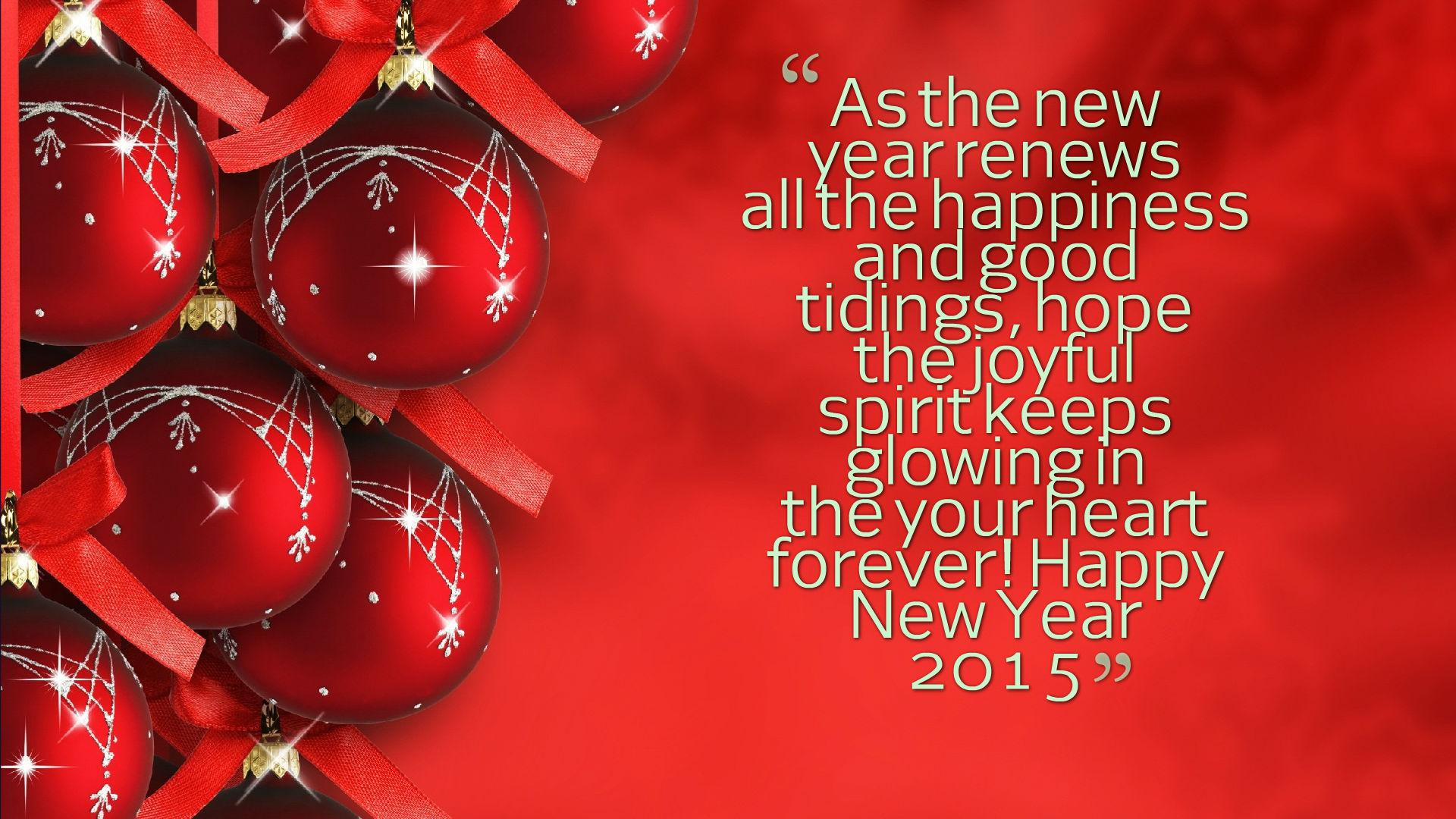 HD Happy New Year 2015 Quotes Wallpaper Download   140137 1920x1080