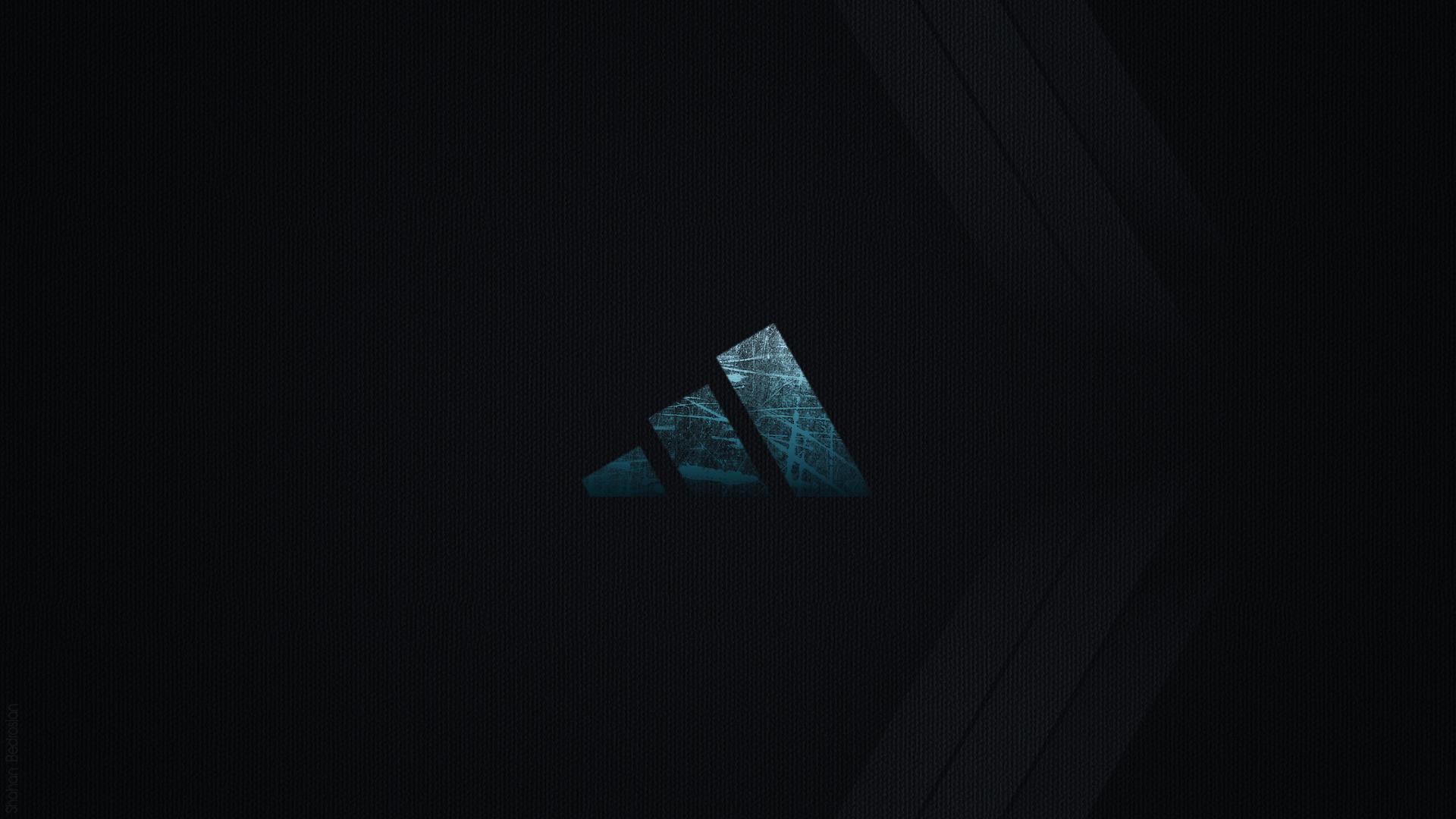 Dark Adidas Logo Wallpaper HD 1920x1080