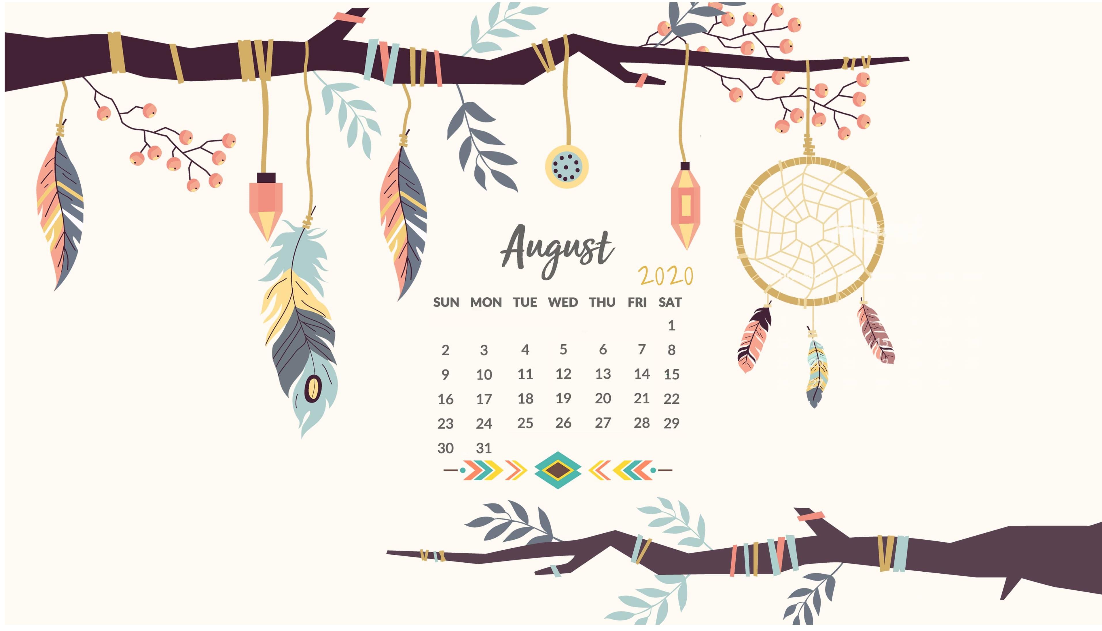 Cute 2020 Desktop Calendar Wallpaper Latest Calendar 3826x2190