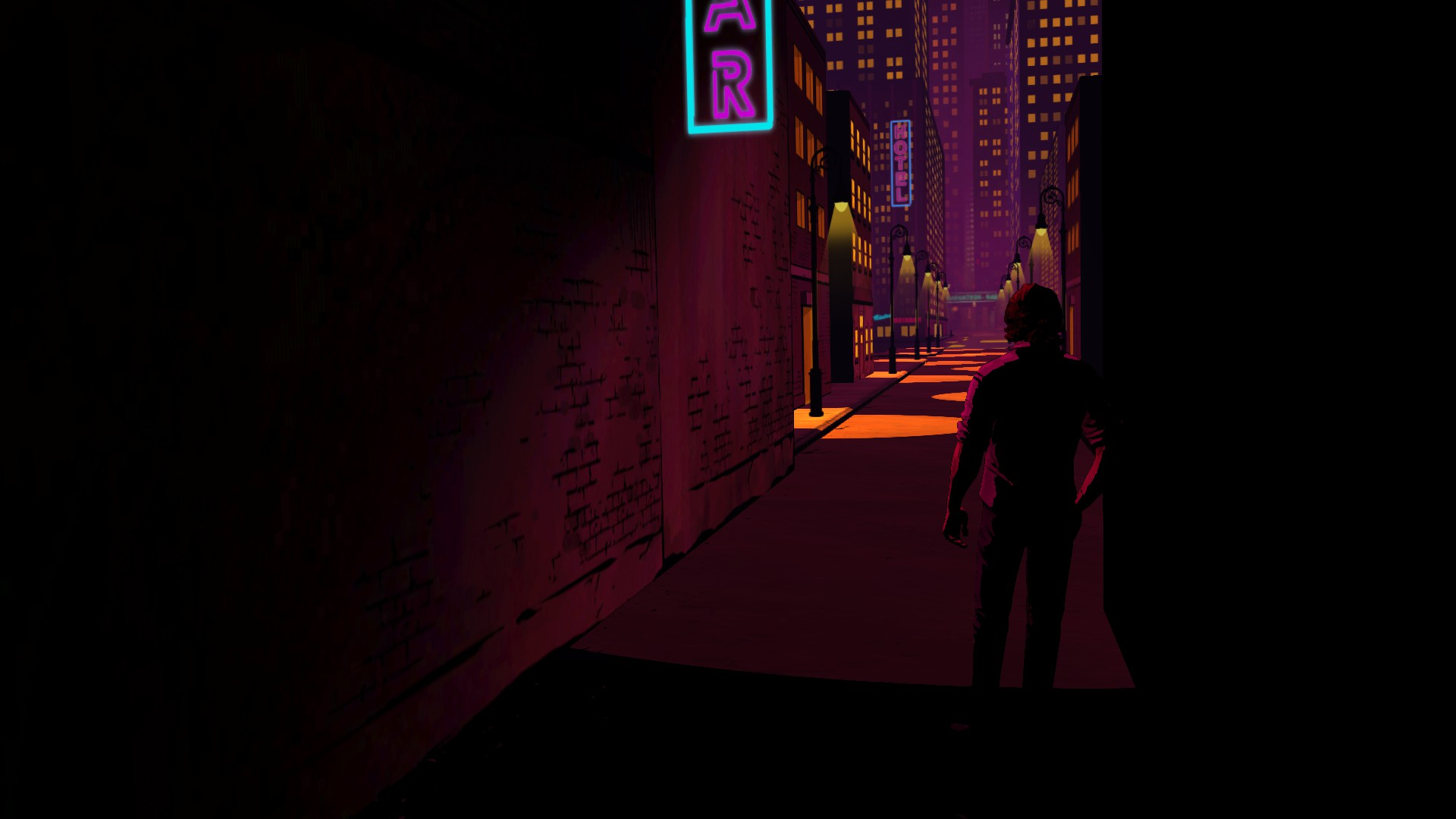 THE WOLF AMONG US game dark city building t wallpaper background 1920x1080