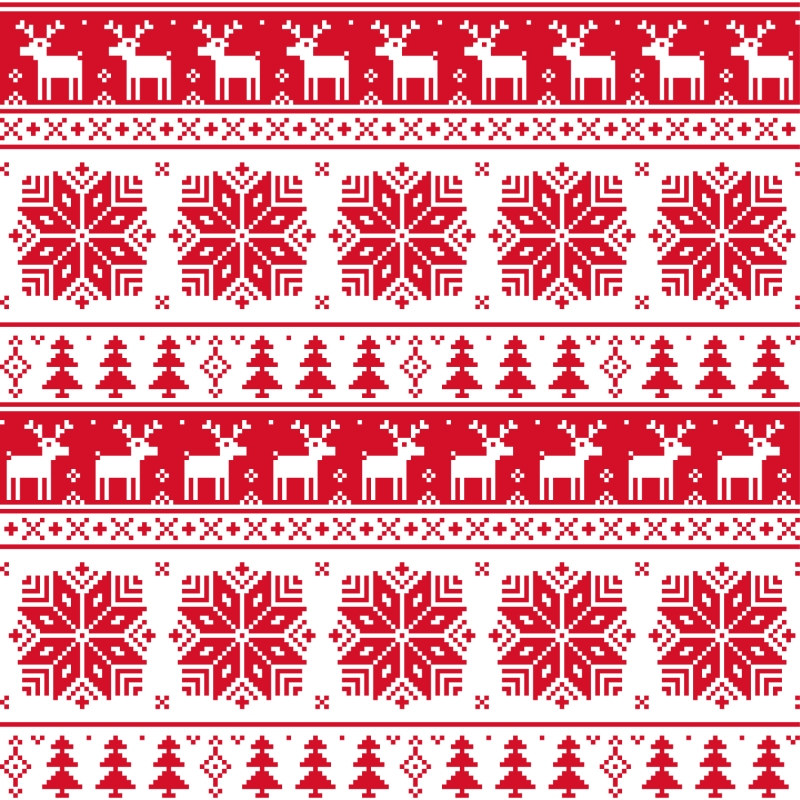 Christmas patterns vector set 03 800x800