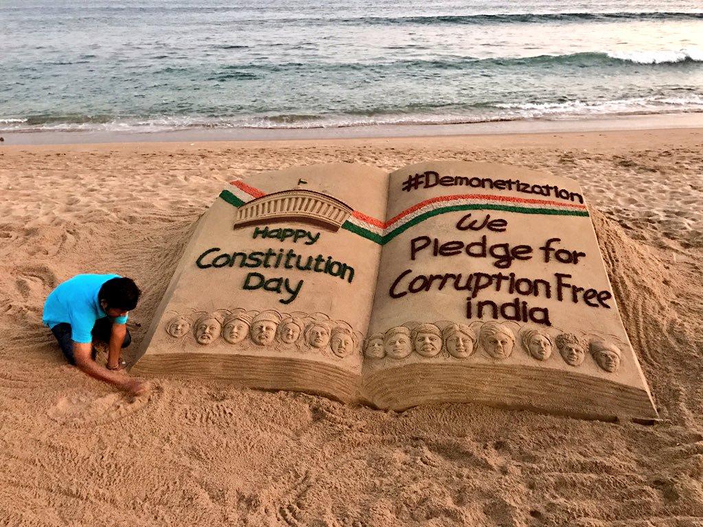 Sudarsan Pattnaik on Twitter My SandArt on ConstitutionDay with 1024x768