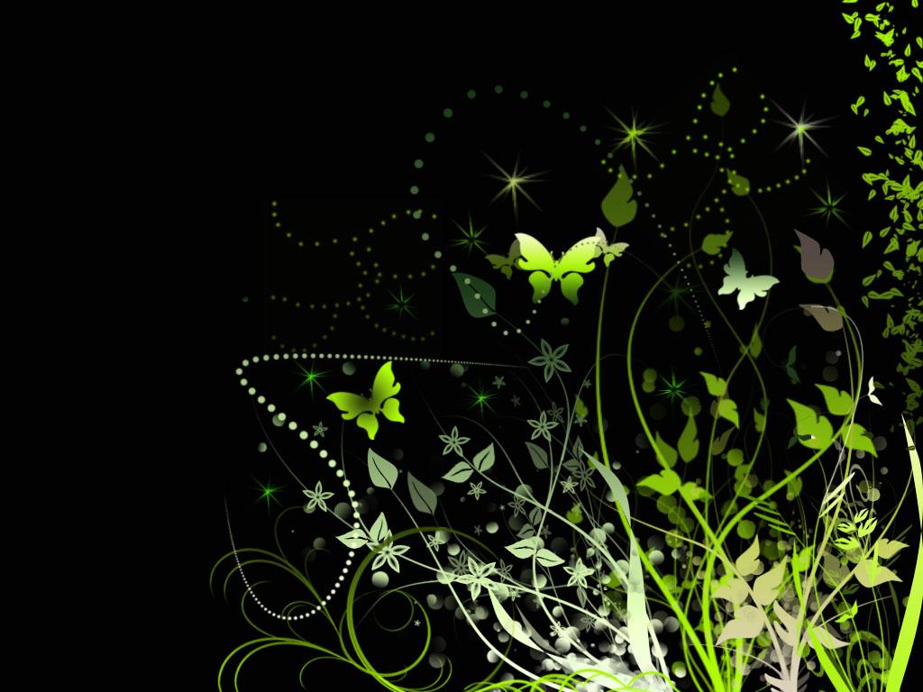 Green Butterfly Background   Wallpaper 30899 1024x768