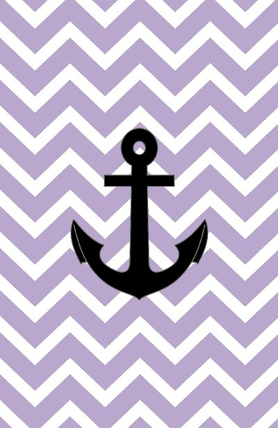 Purple Chevron Anchor Art Print by RexLambo Society6 400x615