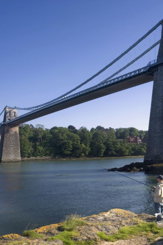 Beautiful Bridges Menai Bridge wallpapers 640x960
