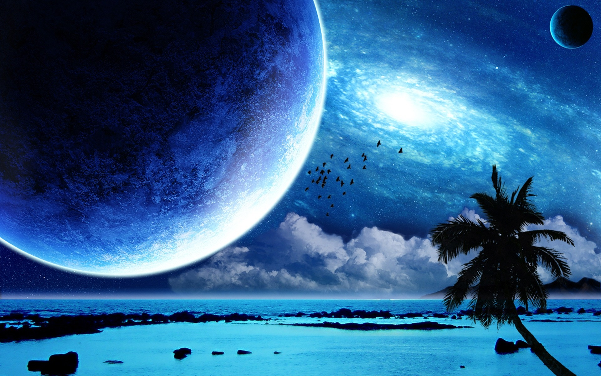 Interstellar Tropical Paradise desktop wallpaper 1920x1200